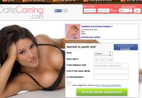 Web cam incontri accende il piacere