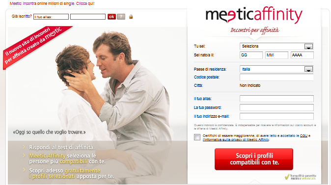INCONTRI CON MEETIC E' GRATIS