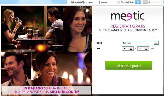 FARE AMICIZIA ON LINE MEETIC